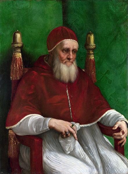 Pope Julius II, portrait by Raffaello