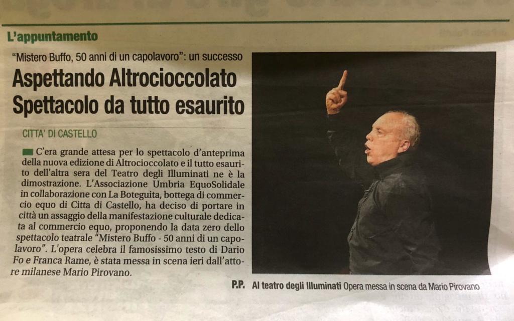 Corriere dell'Umbria, 2 ottobre 2019